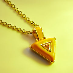 Yellow Aura Necklace-Necklaces-Awe Inspired