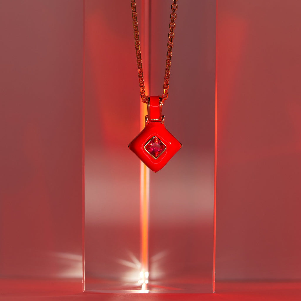 Red Aura Necklace-Necklaces-Awe Inspired