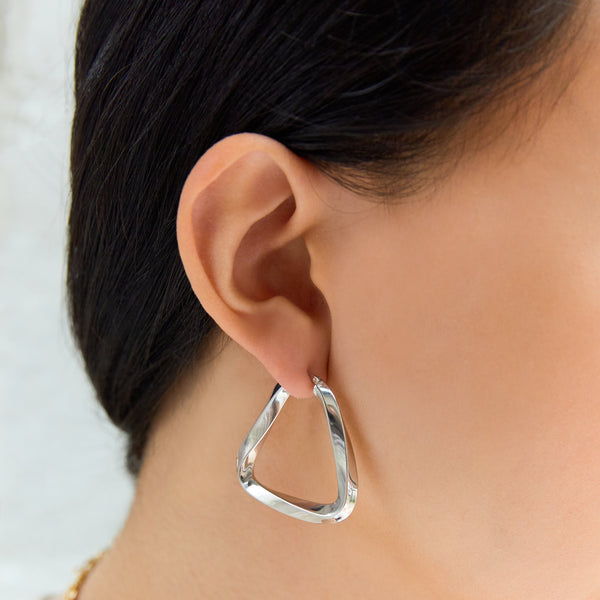 Triangle Hoop Earrings-Earrings-Awe Inspired