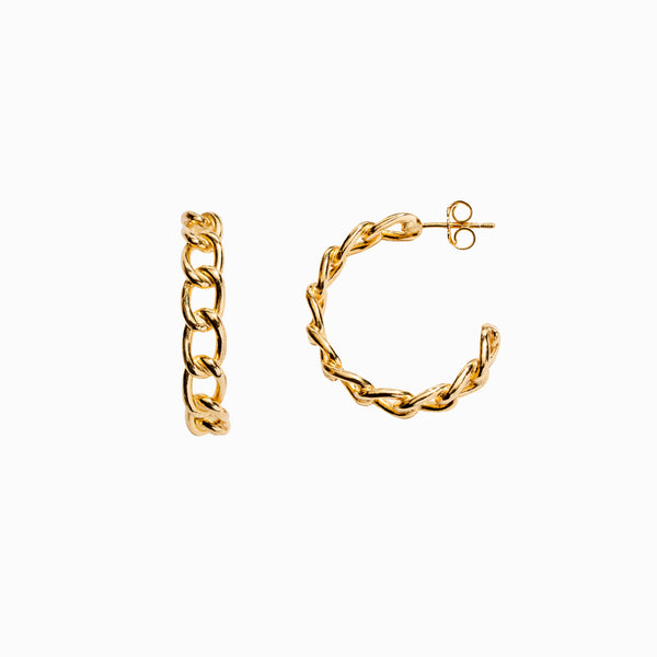 Cable Chain Hoops-Earrings-Awe Inspired