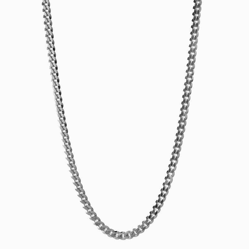 Curb Chain - Sterling Silver-Necklaces-Awe Inspired