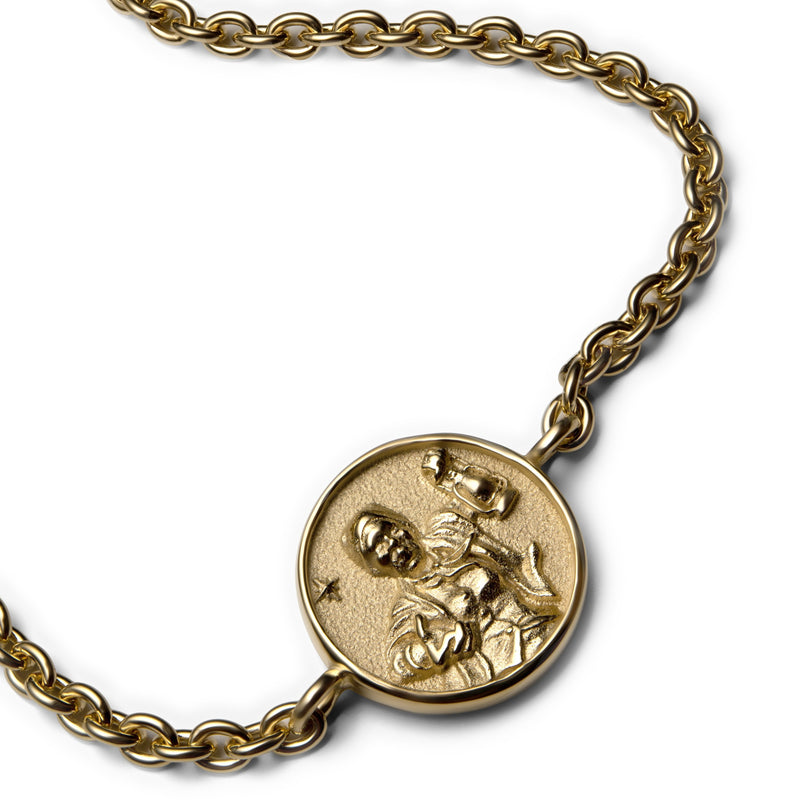 Harriet Tubman Coin Bracelet - 14k Yellow Gold Vermeil-Bracelets-Awe Inspired