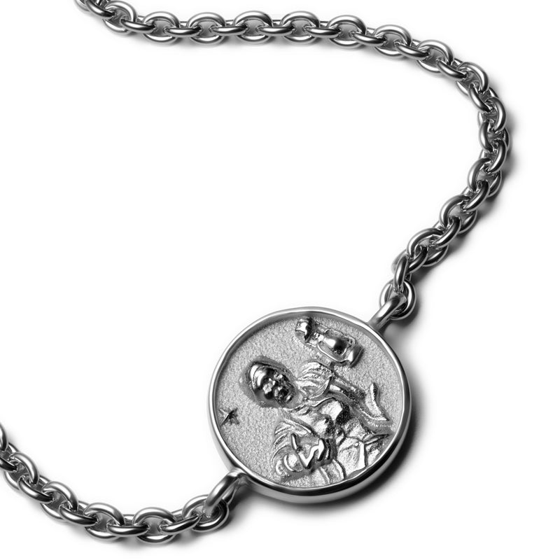 Harriet Tubman Coin Bracelet - Sterling Silver-Bracelets-Awe Inspired