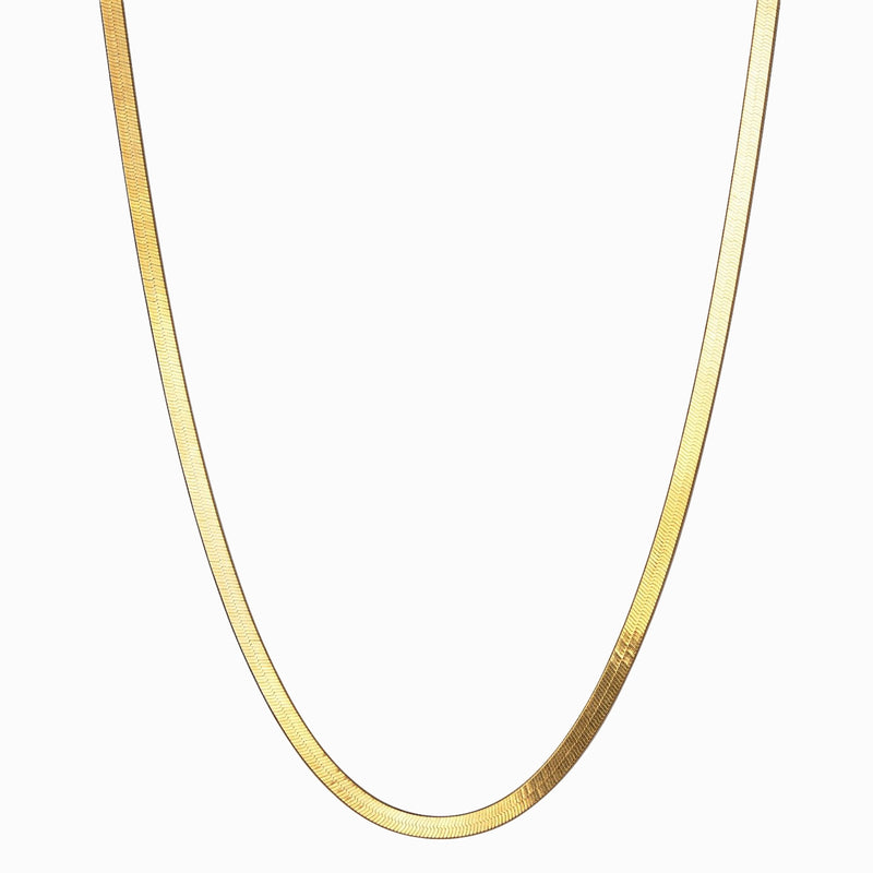 "Herringbone Chain Necklace (16"")-Necklaces-Awe Inspired"