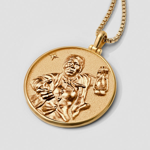 Harriet Tubman Coin Necklace - Solid 14k Yellow Gold-Necklaces-Awe Inspired
