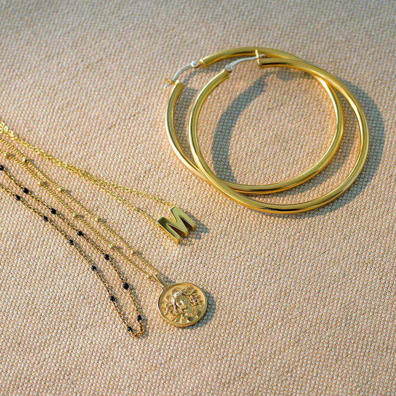 Medusa Mini Coin Necklace - 14k Yellow Gold Vermeil-Necklaces-Awe Inspired