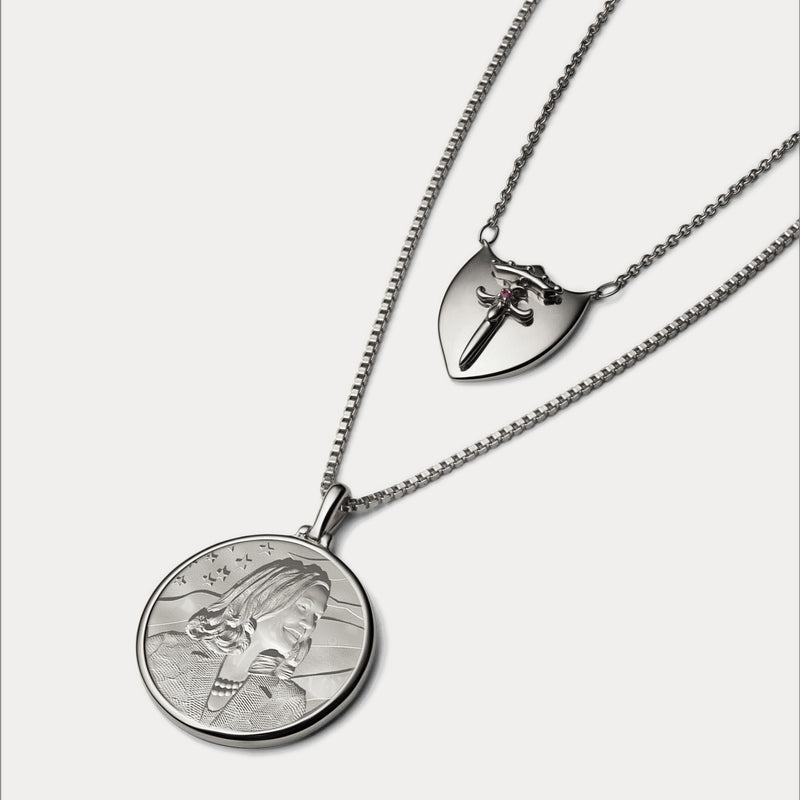 Kamala Harris Coin Necklace - Sterling Silver-Necklaces-Awe Inspired