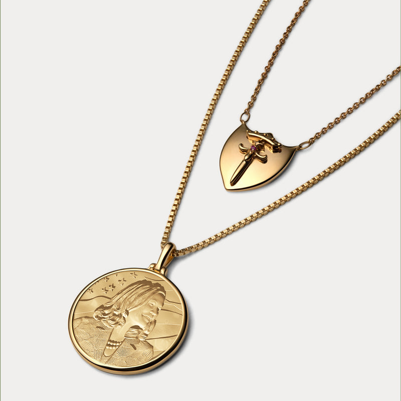 Kamala Harris Coin Necklace - 14k Yellow Gold Vermeil-Necklaces-Awe Inspired