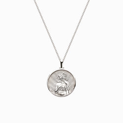 Solid 14k White Gold Mini Aphrodite Necklace-Necklaces-Awe Inspired
