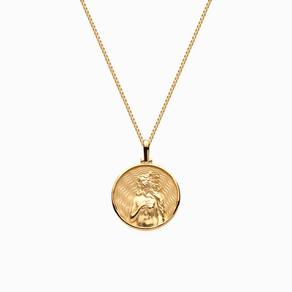 Solid 14k Yellow Gold Mini Aphrodite Necklace-Necklaces-Awe Inspired