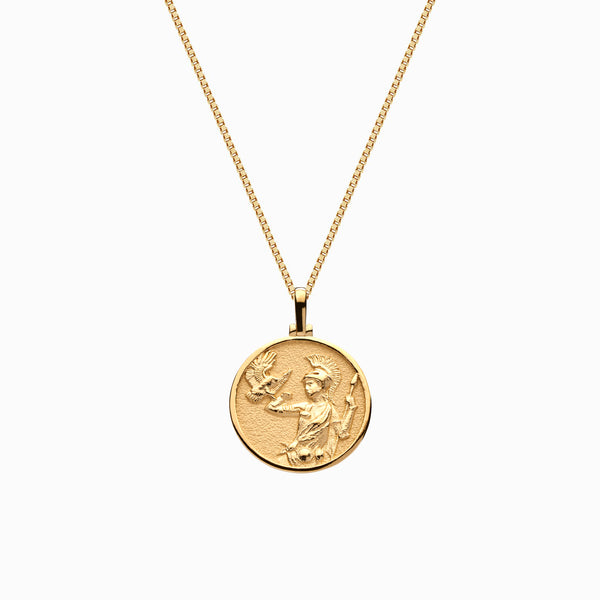 Solid 14k Yellow Gold Mini Athena Necklace-Necklaces-Awe Inspired
