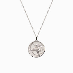 Solid 14k White Gold Mini Mulan Necklace-Necklaces-Awe Inspired