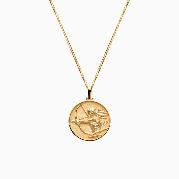 Solid 14k Yellow Gold Mini Mulan Necklace-Necklaces-Awe Inspired