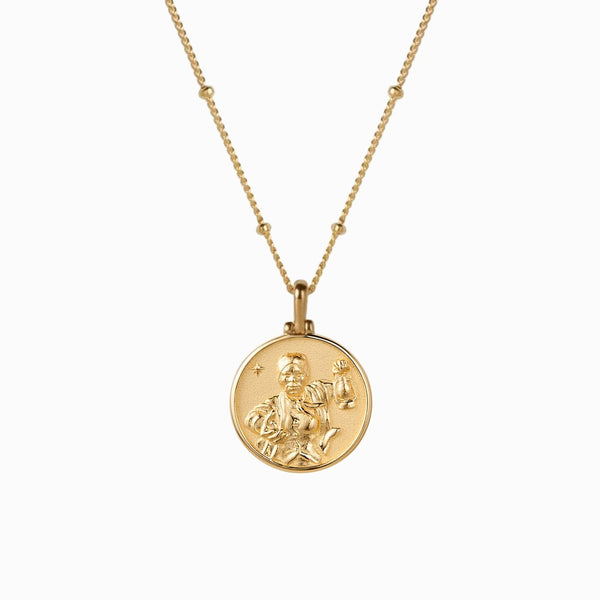 Harriet Tubman Mini Coin Necklace - 14k Yellow Gold Vermeil-Necklaces-Awe Inspired
