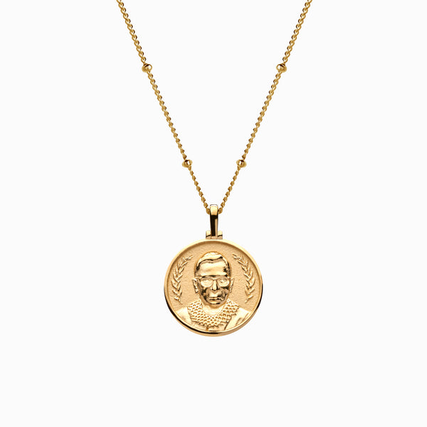 Mini Ruth Bader Ginsburg Necklace-Necklaces-Awe Inspired