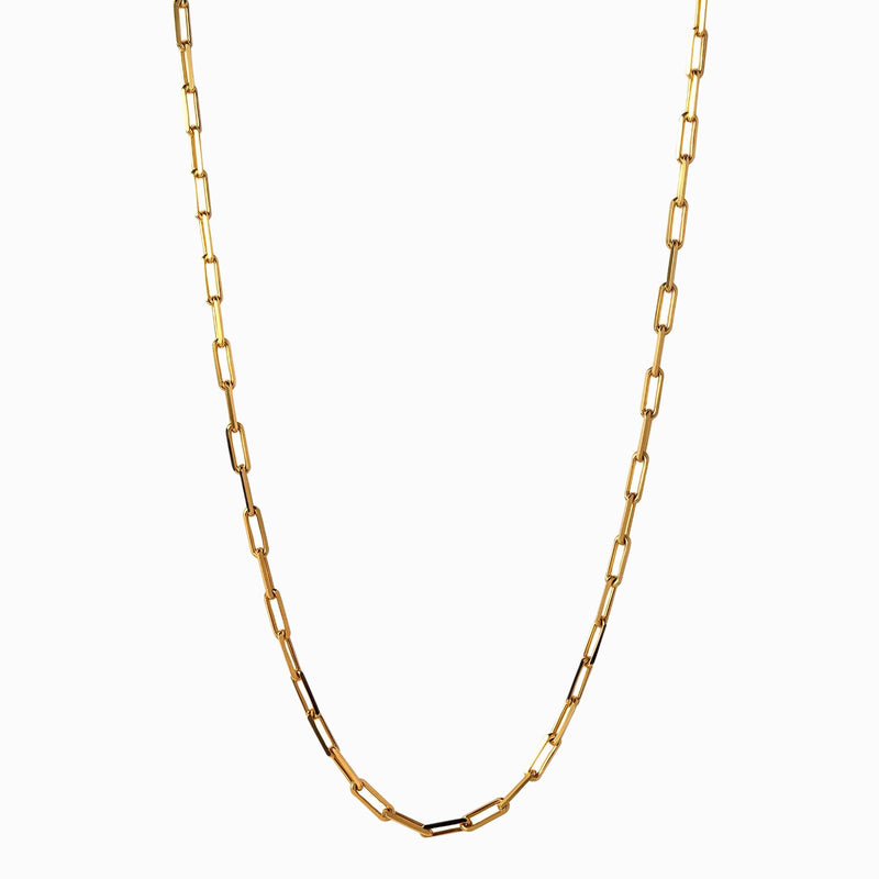 "Paperclip Link Chain (18"") - 14k Yellow Gold Vermeil-Necklaces-Awe Inspired"