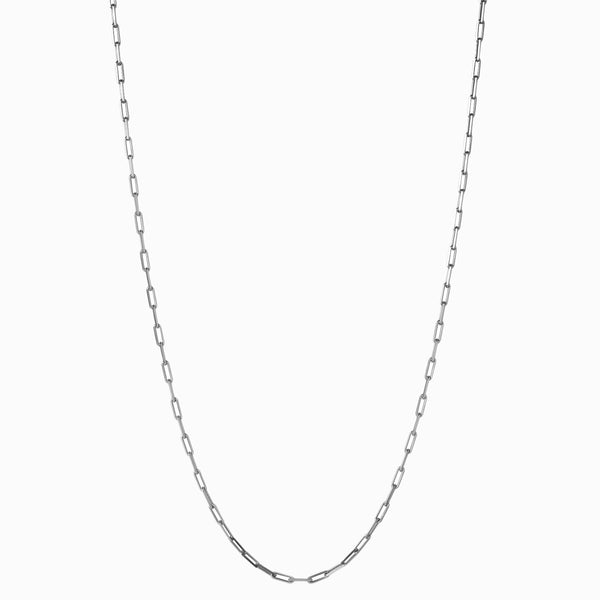 "Classic Paperclip Link Chain (18"") - Sterling Silver-Necklaces-Awe Inspired"