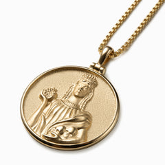 Solid 14K Yellow Gold Persephone Necklace-Necklaces-Awe Inspired
