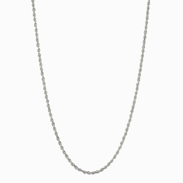 Rope Chain Necklace - Sterling Silver-Necklaces-Awe Inspired
