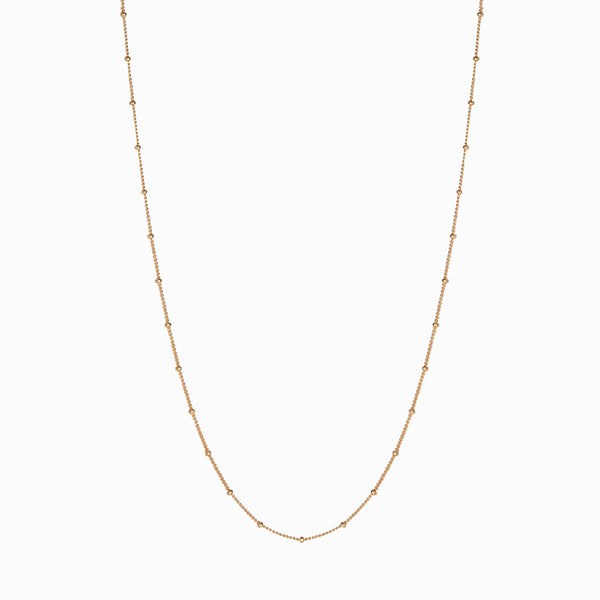 Saturn Chain - 14k Yellow Gold Vermeil-Necklaces-Awe Inspired
