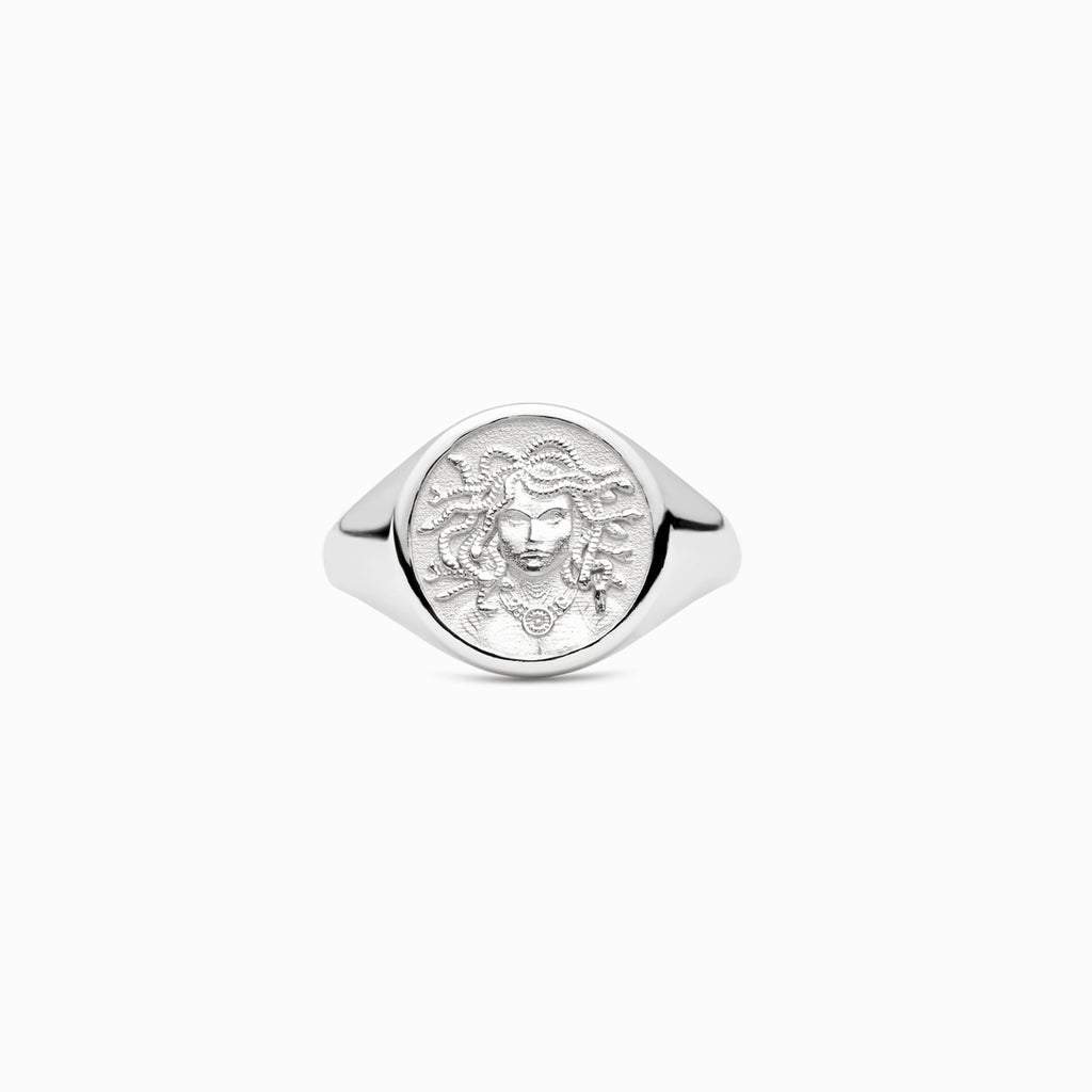 Medusa Signet Ring-Rings-Awe Inspired