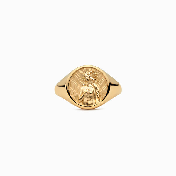 Aphrodite Signet Ring-Rings-Awe Inspired