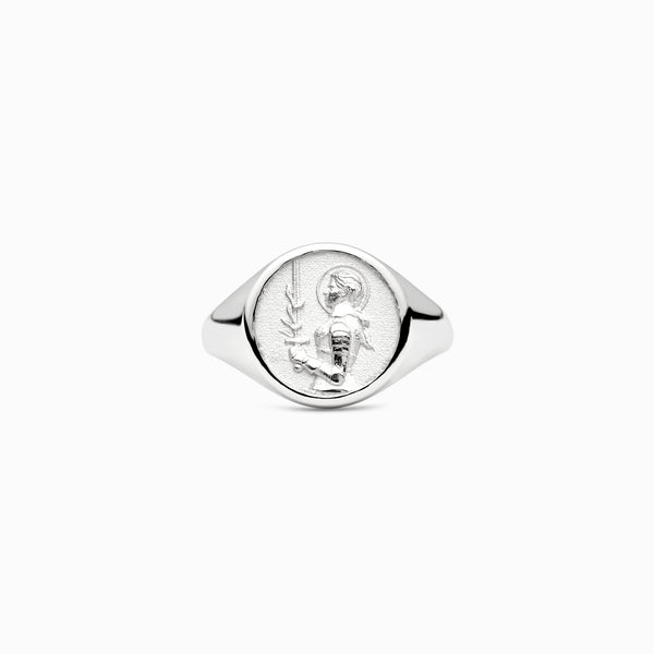 Joan of Arc Signet Ring-Rings-Awe Inspired