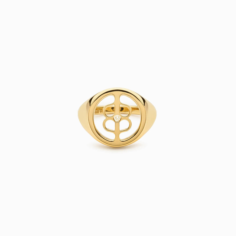 DIAMOND SIGNET RING-Rings-Awe Inspired