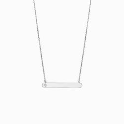 Diamond Bar Necklace-Necklaces-Awe Inspired