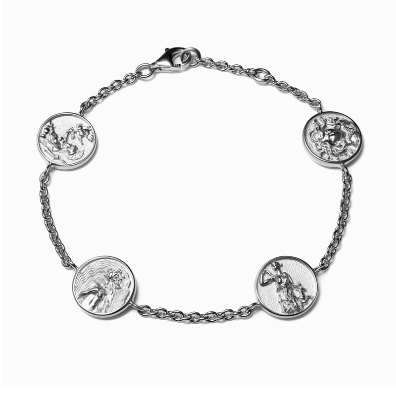 Greek Goddess Bracelet - Sterling Silver-Bracelets-Awe Inspired