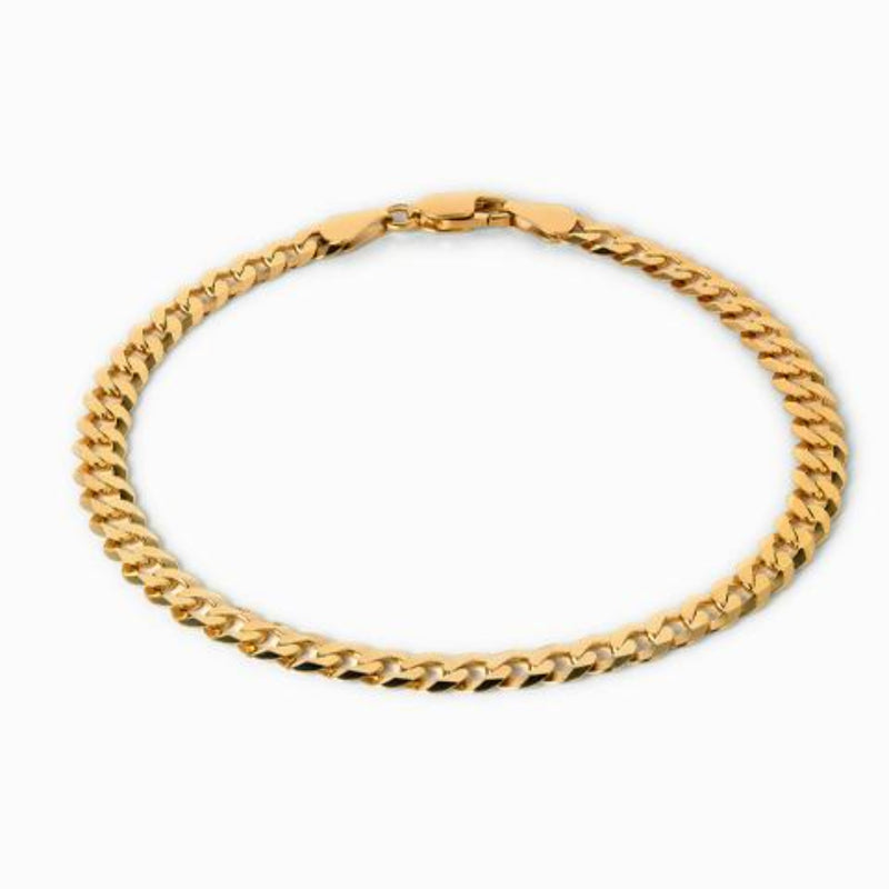 Curb Chain Bracelet - 14k Yellow Gold Vermeil-Bracelets-Awe Inspired