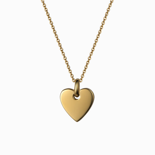 Engravable Heart Necklace-Necklaces-Awe Inspired