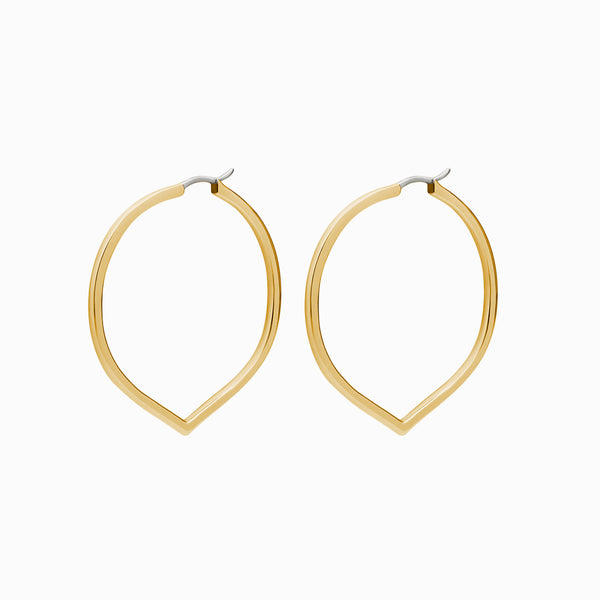 Pointed Large Hoop Earrings-Earrings-Awe Inspired