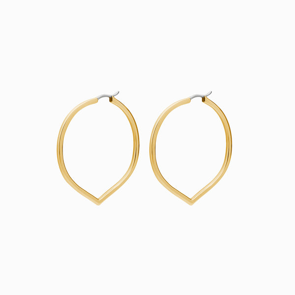 Medium Pointed Hoop Earrings-Earrings-Awe Inspired