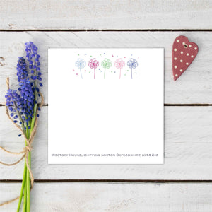 Personalised Flower Allium Stationery Set