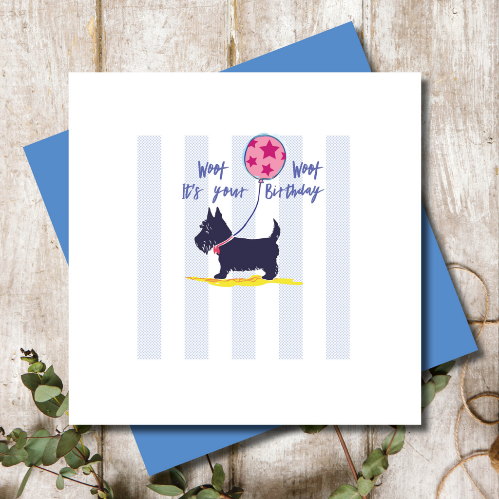 Scottie Dog Birthday Greeting Card