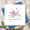 Personalised Queen For The Day Dachshund Greeting Card