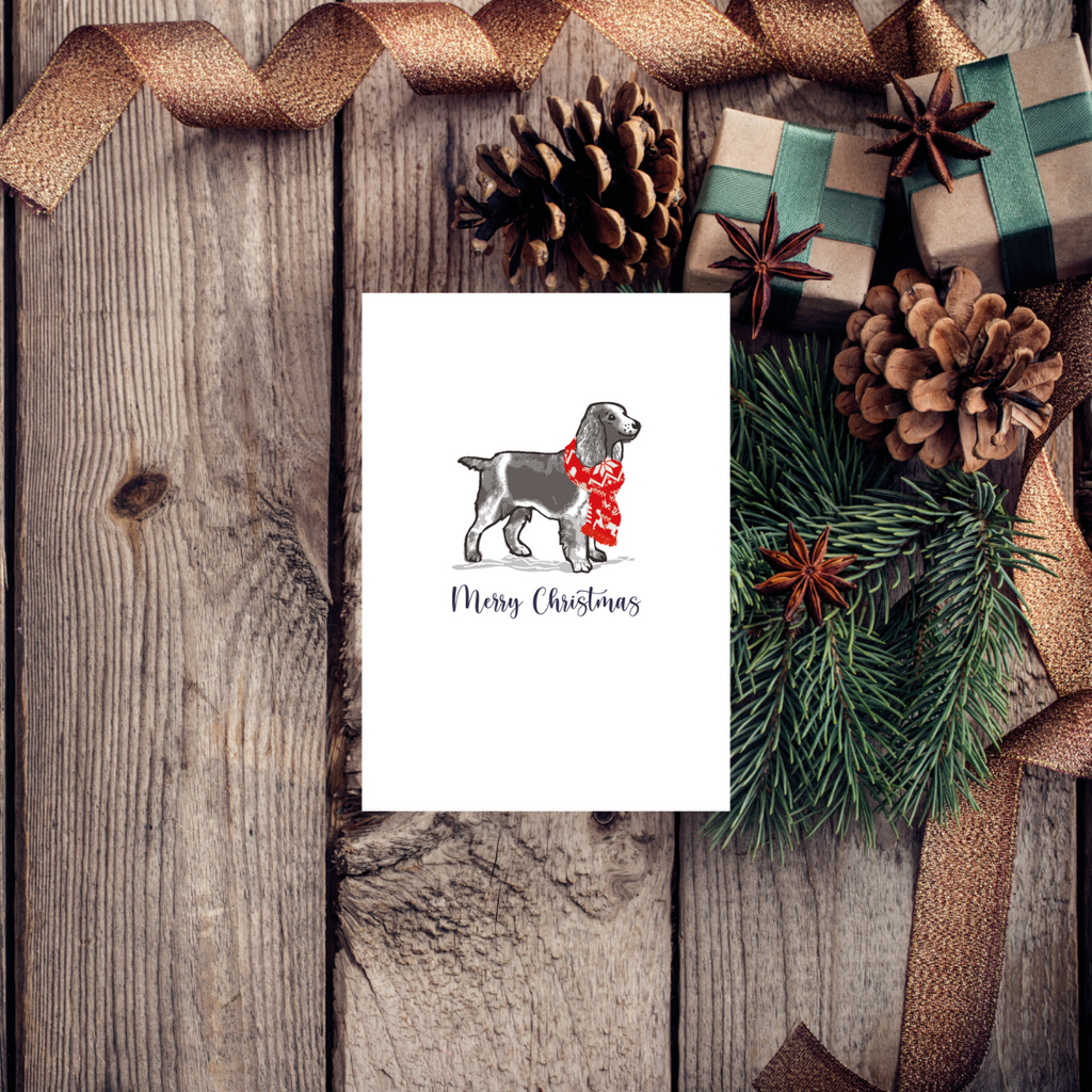 Spaniel Christmas Wishes Greeting Card