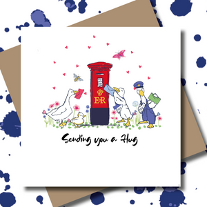 Personalised Key Worker Ducks Postbox Greeting Card