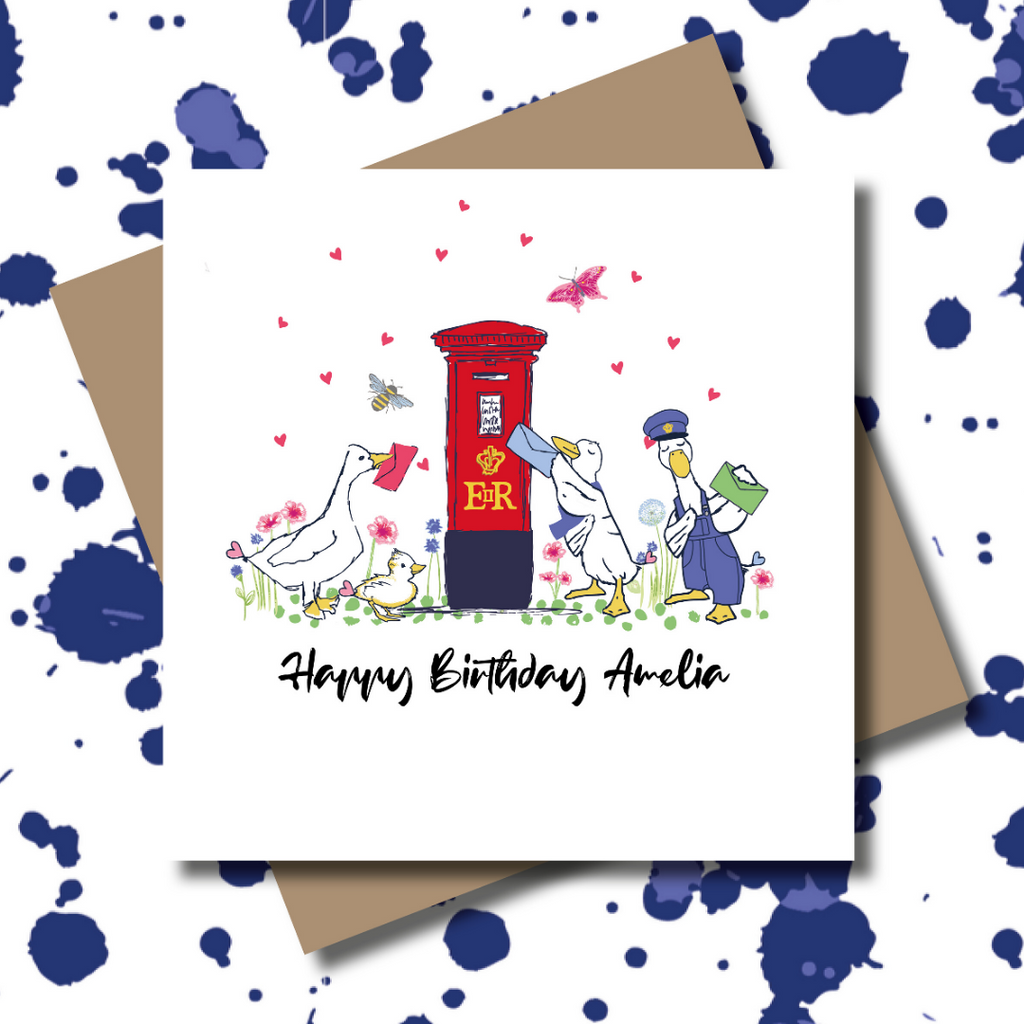 Key Worker Ducks Postbox Greeting Card