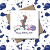 Key Worker Let's Get Physical Dachshund Dog Greeting Card