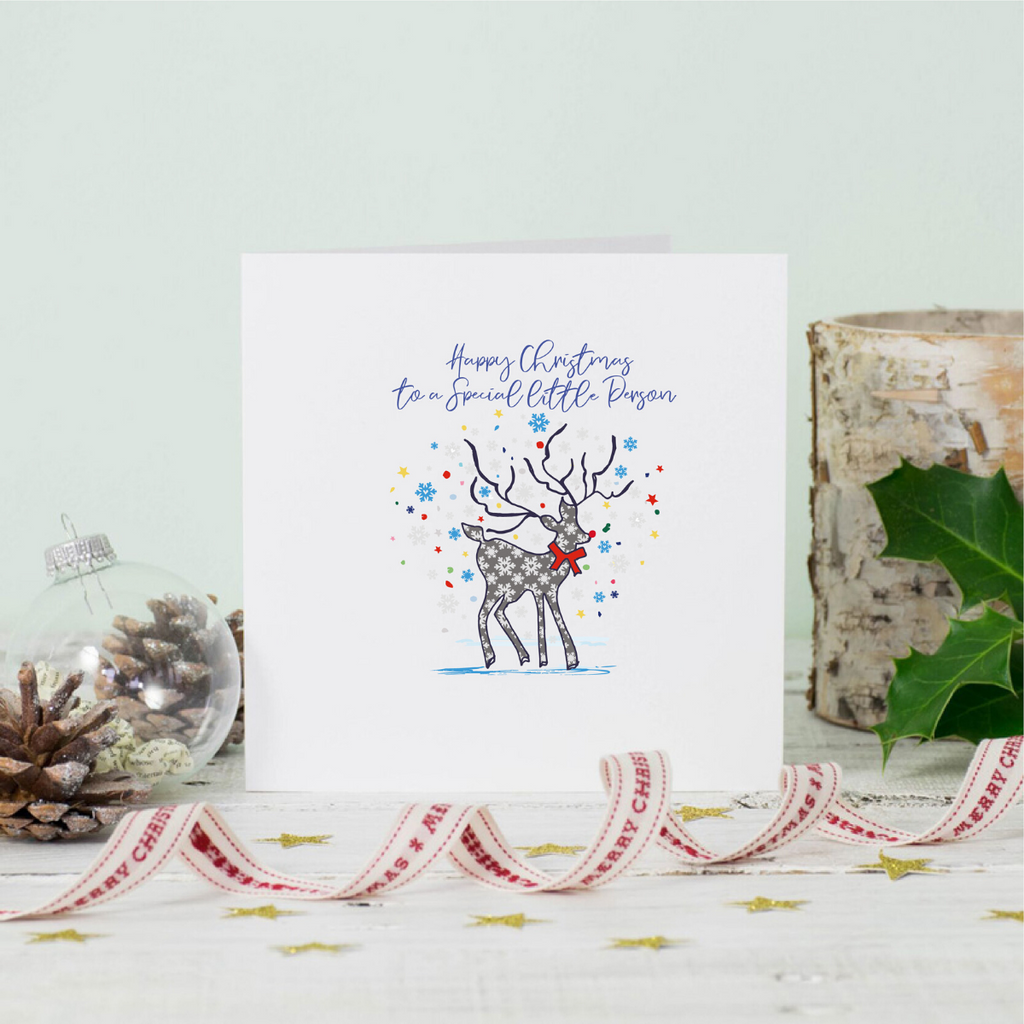 Christmas Stag Special Little Person Greeting Card