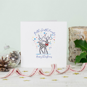 Personalised Daughter Stag Christmas Greeting Card
