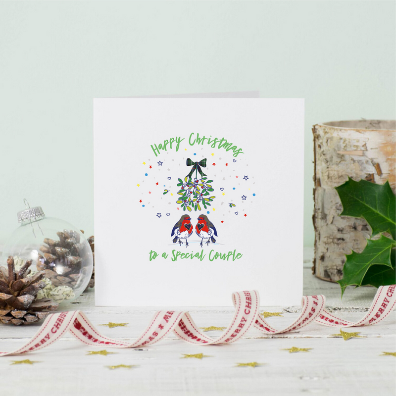 Christmas Robins Special Couple Greeting Card
