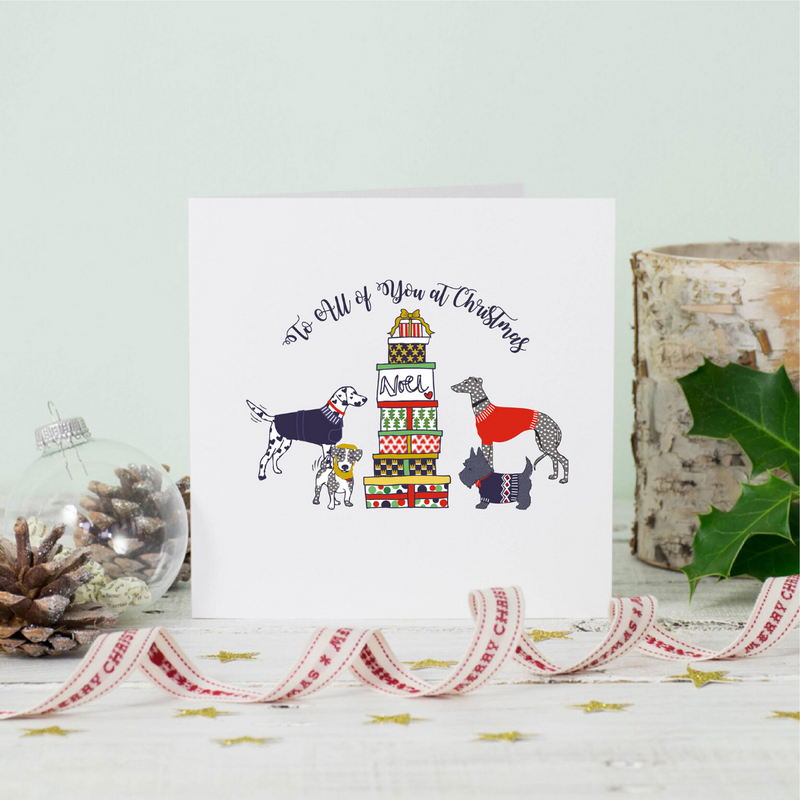 All At Christmas Dogs Greeting Card