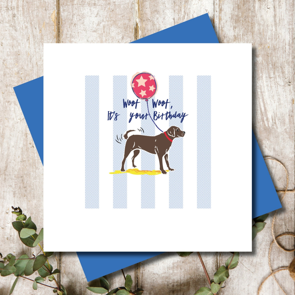 Chocolate Brown Labrador Birthday Greeting Card