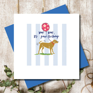 Golden Labrador Birthday Greeting Card