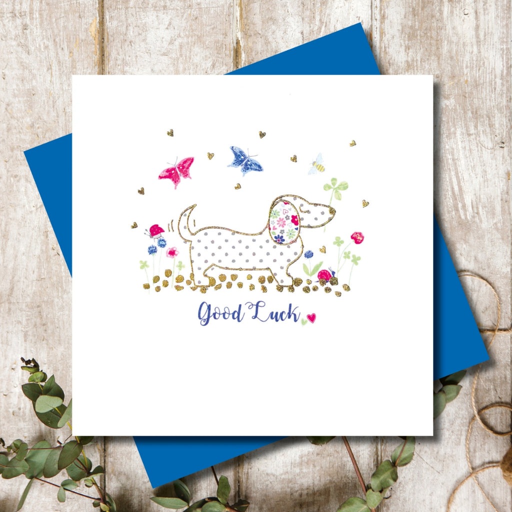 Dachshund Good Luck Greeting Card