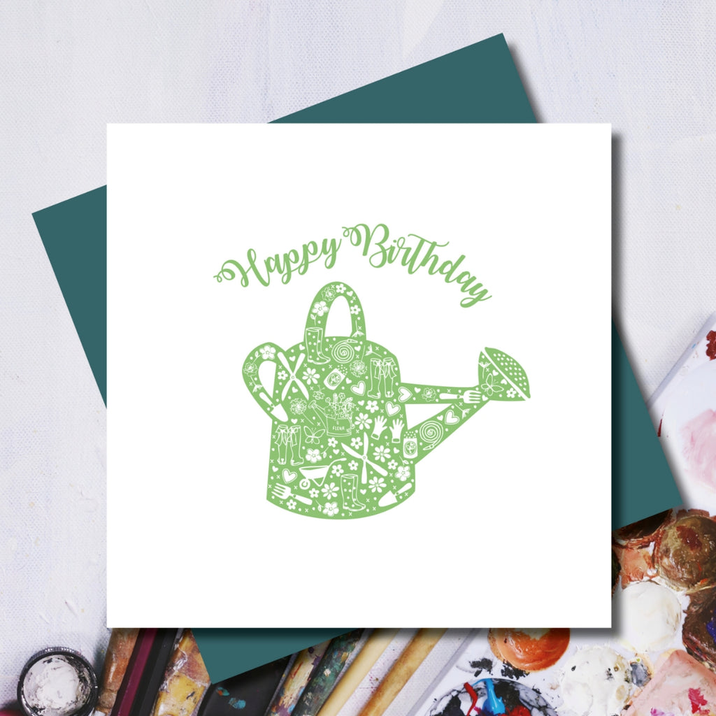 Gardening Happy Birthday Greeting Card