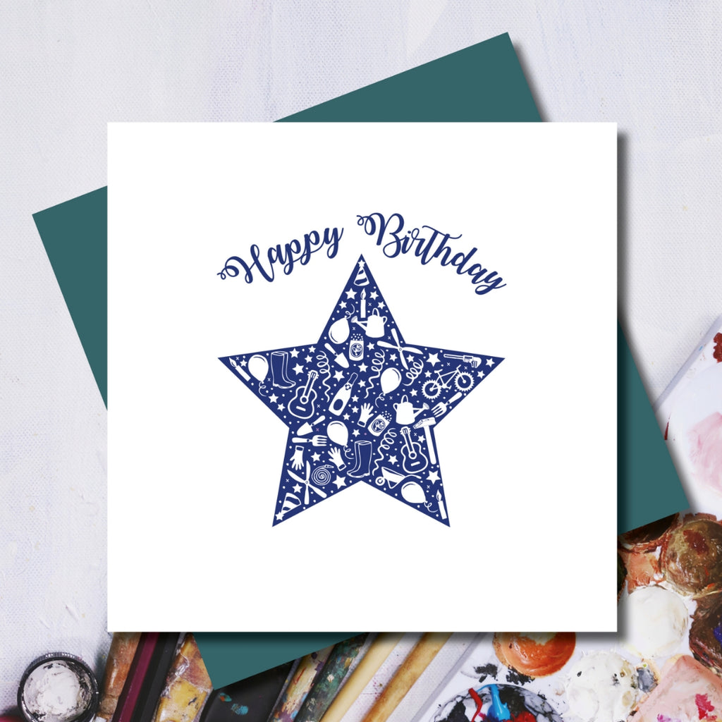 Daisy Happy Birthday Star Greeting Card